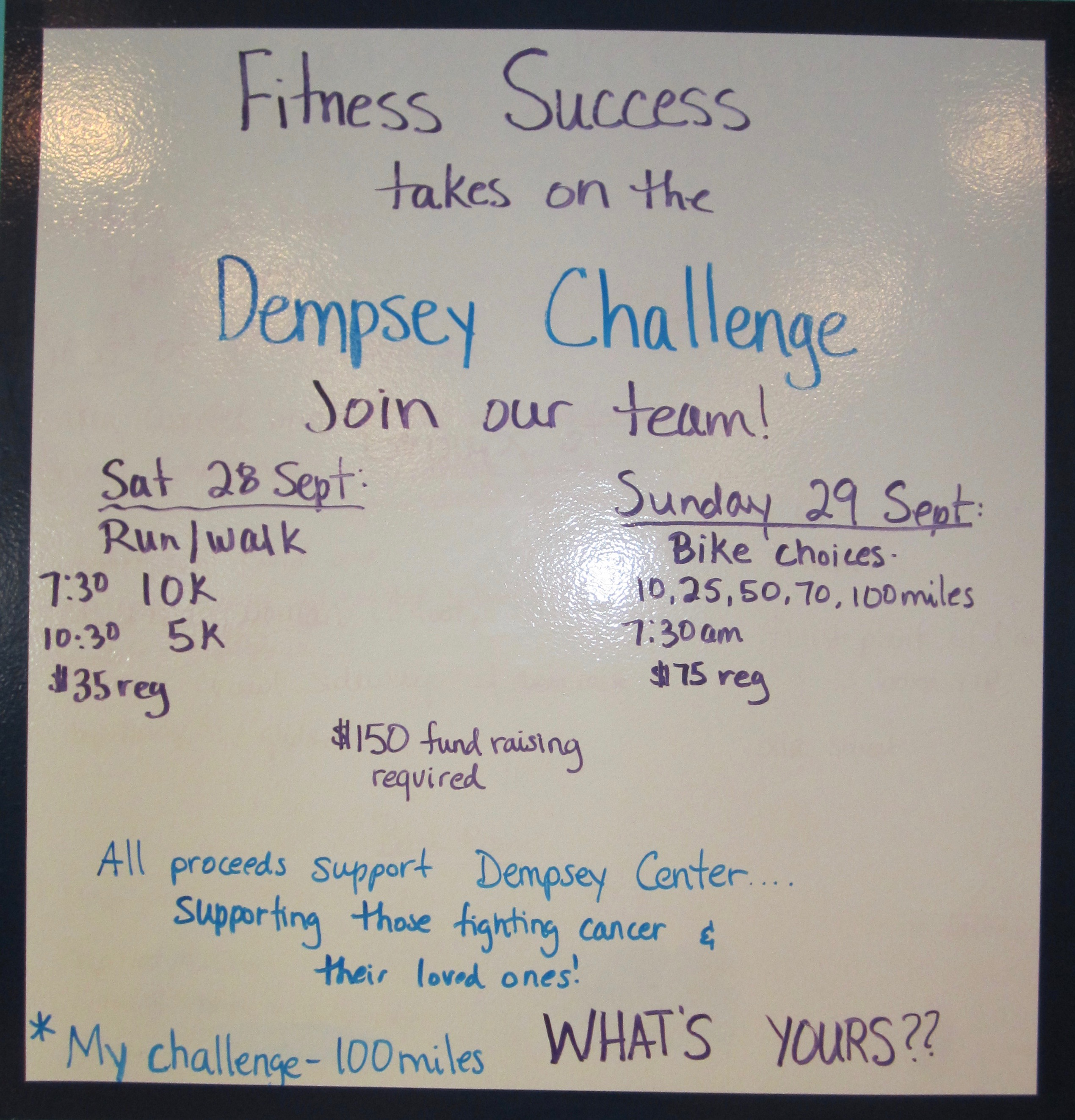 Dempsey Challenge- Join the Fitness Success Team